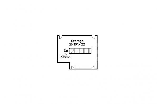 Country House Plan - Greenbriar 10-401 - 2nd Floor Storage Plan