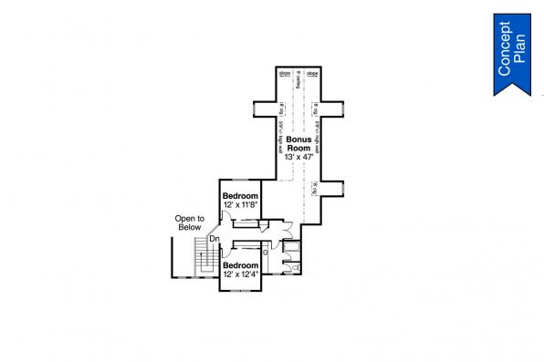 Country House Plan - Idllywild 31-220 - Second Floor Plan