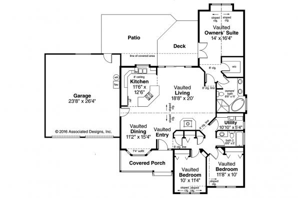 Country House Plan - Marysville 30-112 - Floor Plan