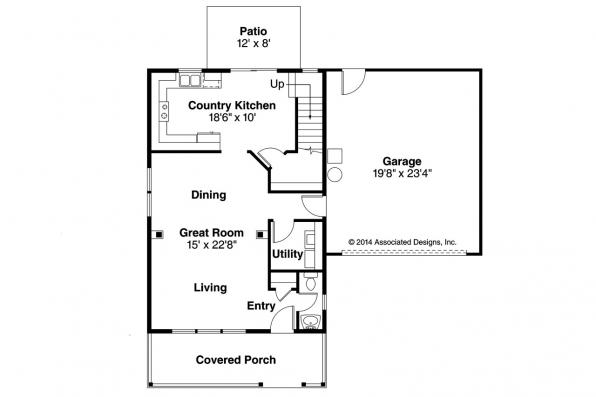 Country House Plan - Patterson 30-117 - 1st Floor Plan