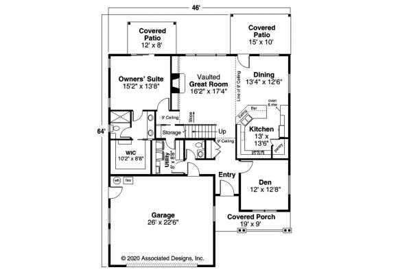 Country House Plan - Sprague 31-200 - First Floor Plan