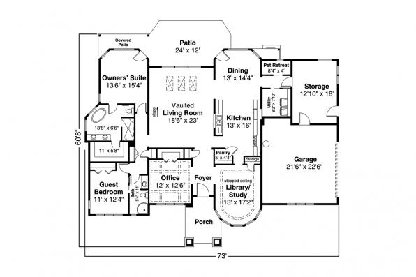Traditional Home Plan Tahoma 31-123 - First Floor