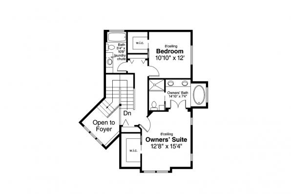 Craftsman House Plan - Bowman 30-315 - 2nd Floor Plan