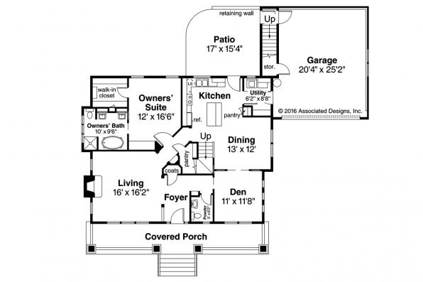 Craftsman House Plan - Carrington 30-360 - 1st Floor Plan