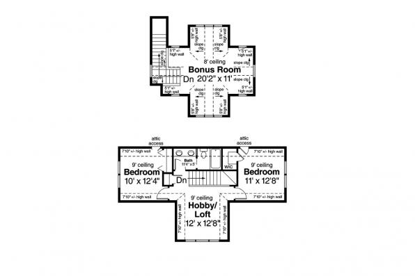 Craftsman House Plan - Carrington 30-360 - 2nd Floor Plan