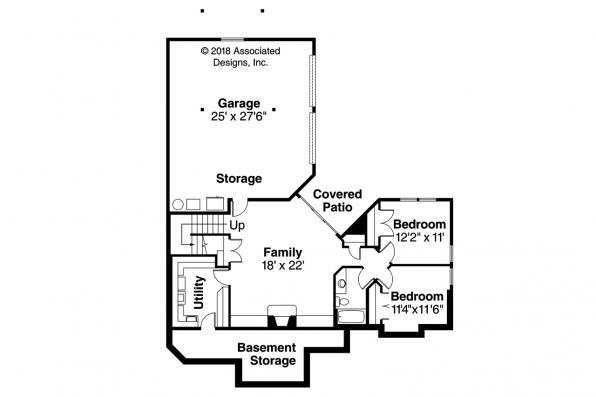 Craftsman House Plan - Keystone 30-597 - Daylight Basement Floor Plan