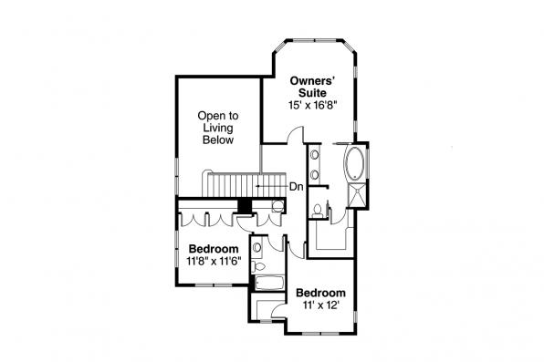 Craftsman House Plan - Mapleton 30-506 - 2nd Floor