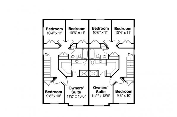 Duplex Plan - Bergen 60-026 - Second Floor Plan