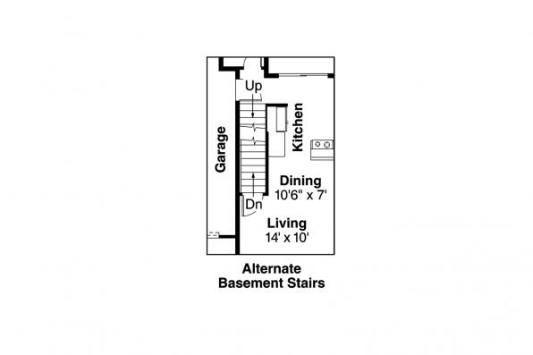 Duplex Plan - Cranbrook 60-009 - Basement Stair