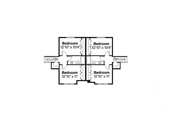 Duplex Plan - Lincolnshire 60-032 - 2nd Floor Plan