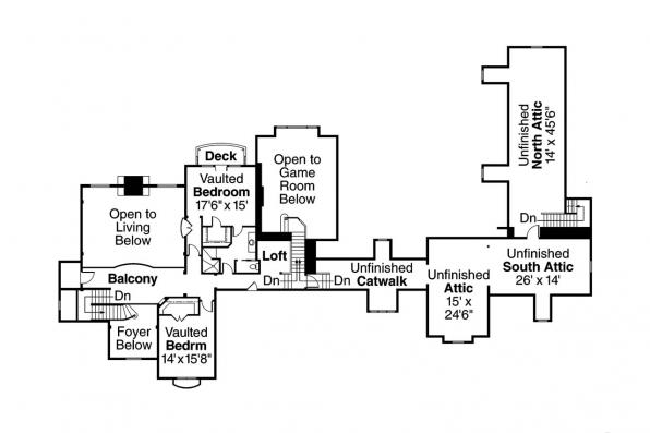 European House Plan - Chesterton 30-649 - 2nd Floor Plan