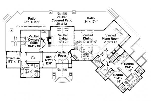 European House Plan - Delfino 31-062 - Main Floor Plan