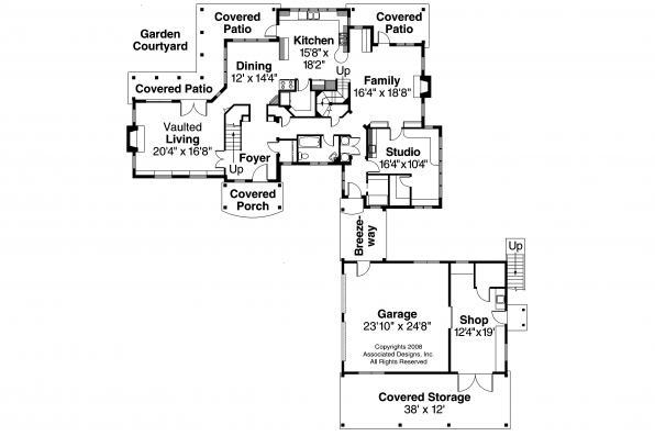European House Plan - Petersfield 30-542 - First Floor Plan