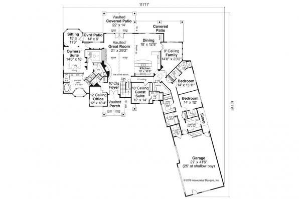 Farmhouse Plan - Concord 31-144 - First Floor Plan