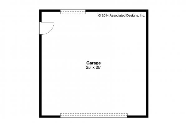 Garage Plan 20-140 - Floor Plan