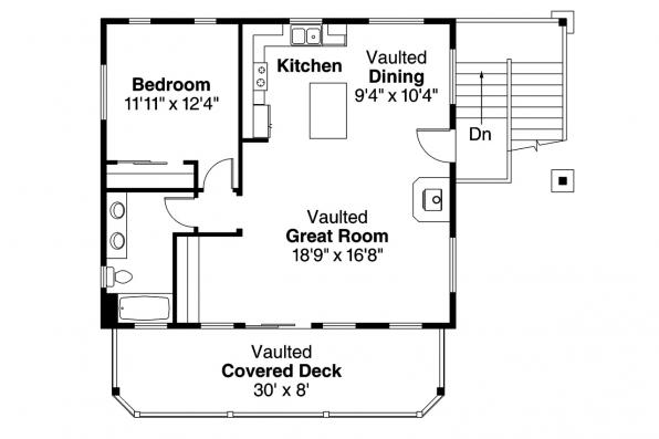 Garage Plan 20-152 - Second Floor Plan