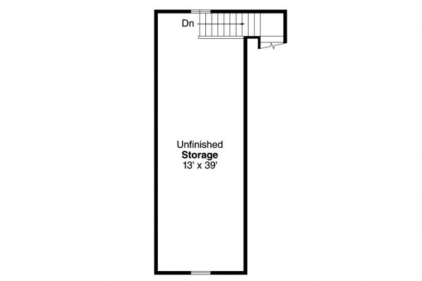 Garage Plan - 20-154 - Second Floor Plan