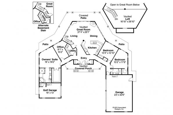 Georgian House Plan - Myersdale 10-453 - Floor Plan