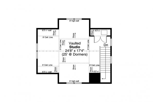 Guest House Plan - Bayberry Cottage 31-248 - Second Floor