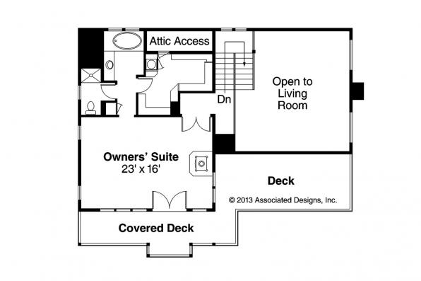 Lodge Style House Plan - Avondale 10-347 - 2nd Floor Plan