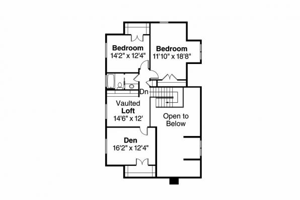 Lodge Style House Plan - Elkton 30-704 - 2nd Floor Plan