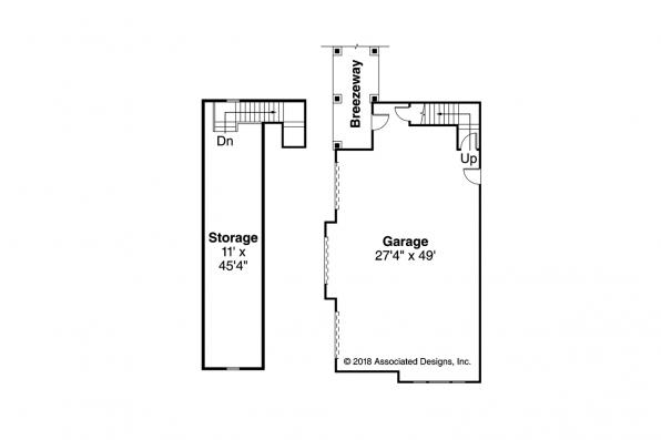 Lodge Style Home Plan - Everheart 10-440 - Garage Floor Plan