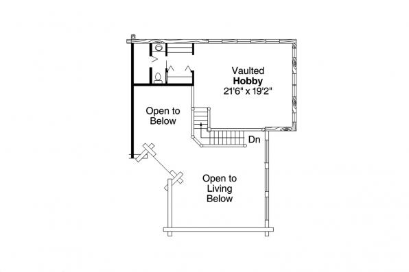 Lodge Style House Plan - Wickiup 30-116 - 2nd Floor Plan