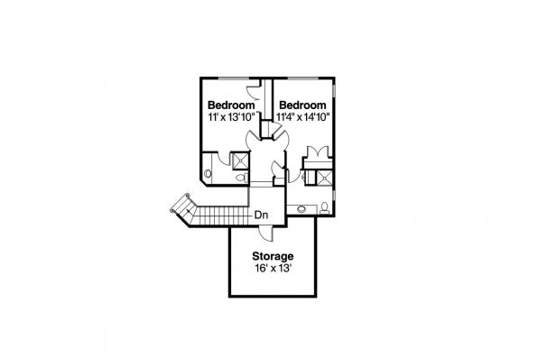 Mediterranean House Plan - Corsica 30-443 - 2nd Floor Plan