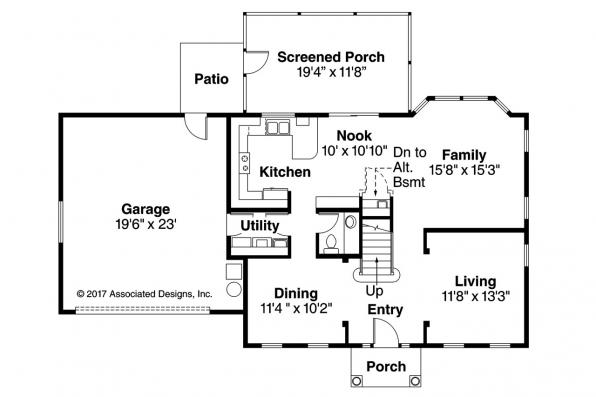Mediterranean House Plan - Houston 11-044 - 1st Floor Plan