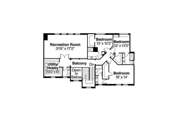 Mediterranean House Plan - Rossano 30-569 - Second Floor Plan