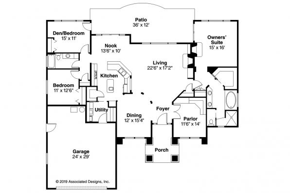 Mediterranean House Plan - Royston 30-398 - Floor Plan