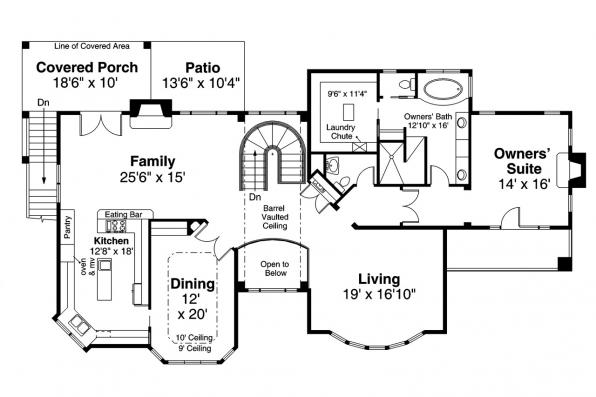 View Lot House Plan - Stratton 31-184 - Second Floor