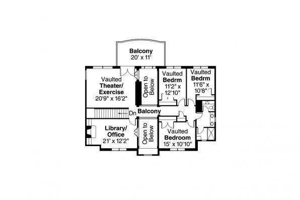 Mediterranean House Plan - Vercelli 30-491 - 2nd Floor Plan