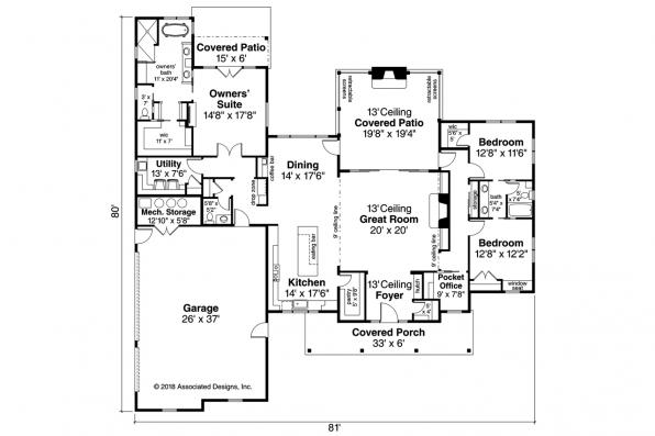 View Lot House Plan - Boulderfield 31-147 - Floor Plan