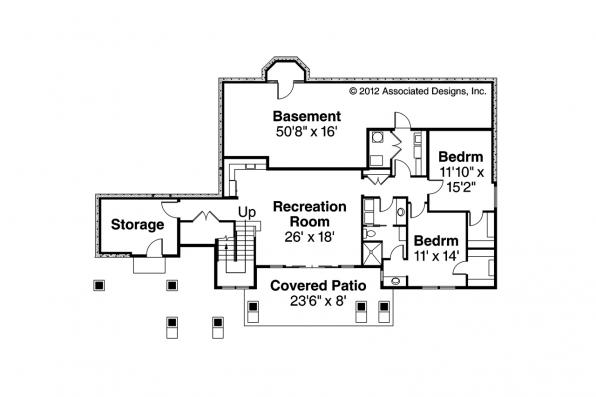 Prairie Style House Plan - Northshire 30-808 - Daylight Basement Floor Plan