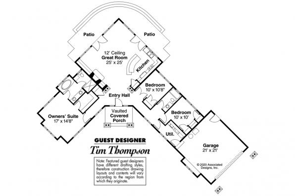 Ranch House Plan - Heartview 50-015 - Floor Plan