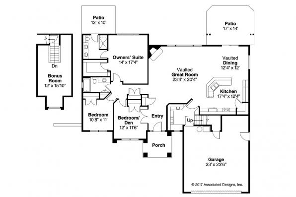 Ranch house plans lindgren 11 122 associated designs for Ranch house plans with bedrooms together