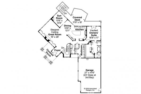 Shingle Style House Plan - Northbrook 30-898 - 1st Floor Plan