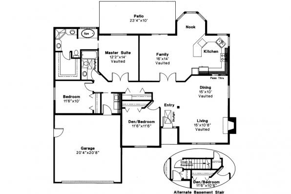 Shingle Style House Plan - Laramie 30-010 - Floor Plan