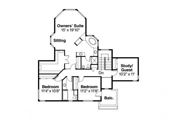 Southwest House Plan - Bellaire 11-050 - 2nd Floor Plan