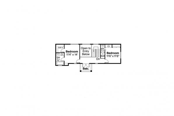 Southwest House Plan - Roswell 11-086 - 2nd Floor Plan