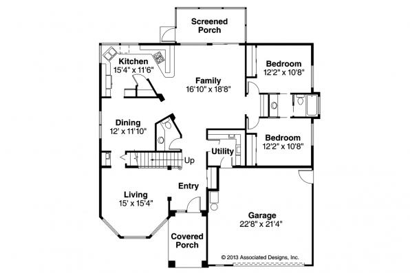 Southwest House Plan - Warrington 11-036 - 1st Floor Plan