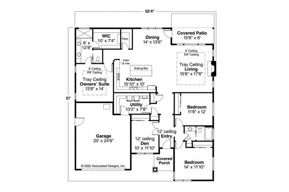 Contemporary House Plan - Nisqually 31-191 - Floor Plan