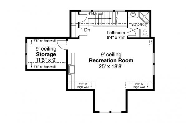 Garage Plan 20-111 - Second Floor Plan