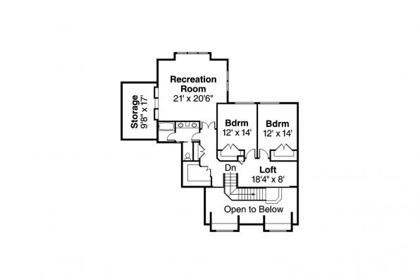 Traditional House Plan - Monticello 30-734 - 2nd Floor Plan