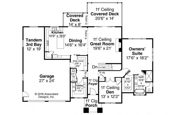 Traditional House Plan - Brandywine 31-125 - First Floor