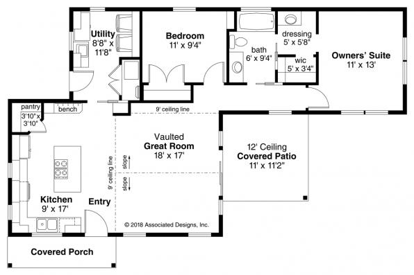 Traditional House Plan - Klickitat 31-129 - Floor Plan
