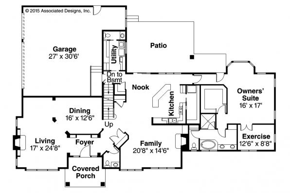 Traditional House Plan - Masonville 30-935 - First Floor Plan