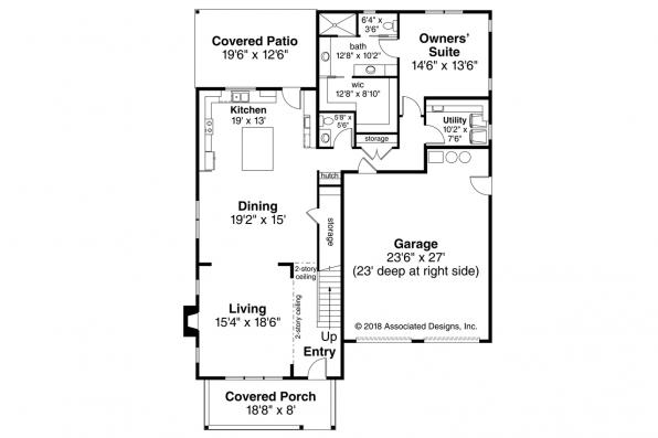 Traditional House Plan - Silverside 31-124 - First Floor