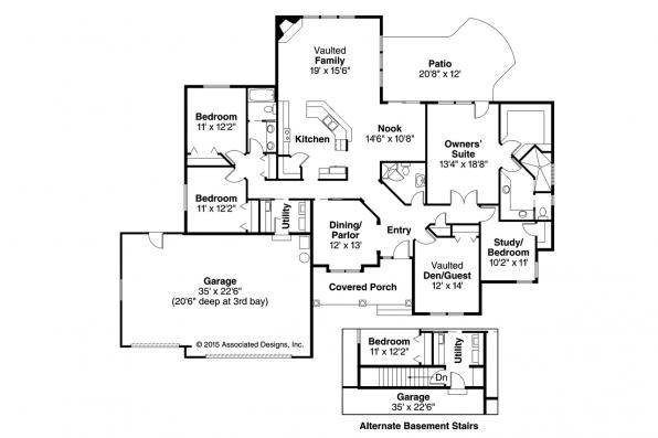 Tuscan House Plan - Brittany 30-317 - Floor Plan